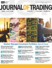 The Journal of Trading: 13 (1)