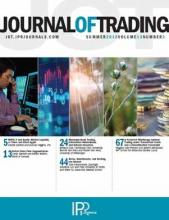 The Journal of Trading: 13 (3)